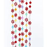 Amazon Com Kurt Adler 9 Plastic White Flocked Candy
