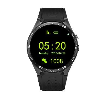 Amazon.com: lightclub KW88 Heart Rate Monitor Pedometer ...