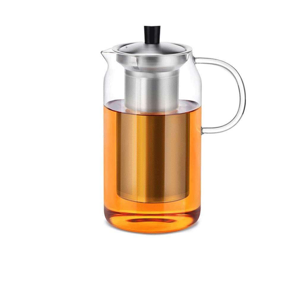 LQX ガラスティーセットエレガントカップティーポット肥厚耐熱ティーカップ付きフィルター家庭用ティーマシンオフィスティーセレモニーカップ (容量 : B) B07RXWR5GN  B
