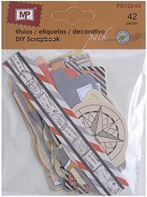 MP PD122-04 - Pack de 42 etiquetas de scrapbooking: Amazon.es: Oficina y papelería