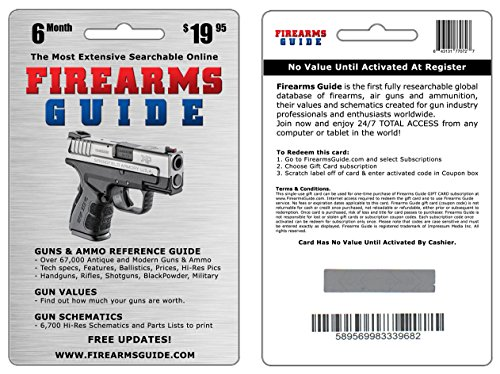 Firearms Guide 8th Edition Online - the world's largest firearms, ammo and air guns reference guide, gun value guide and gun schematics & blueprints library with FREE UPDATES! (Airgun Smith Wesson)