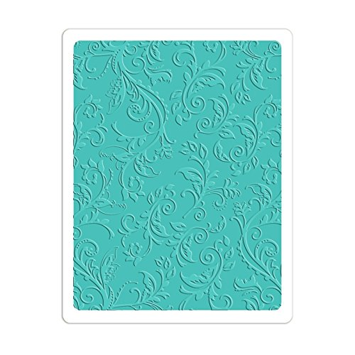 Sizzix (660579) Textured Impressions Plus Embossing Folder-Botanical Swirls Ellison