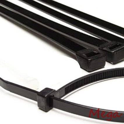 Superb 200 Pack 14u0026quot; Black Cable Ties Heavy Duty 50lb Long Industrial Wire ...