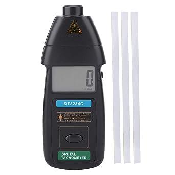 Schulzeit Digitaler Drehzahlmesser Dt2234c Digitaler Handdrehzahlmesser 2 5 99999 U Min Berührungslose Geschwindigkeitsanzeige Gewerbe Industrie Wissenschaft