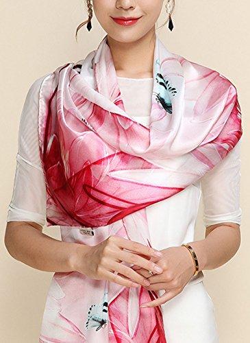 5 De Ete Rosa Anti En Couleurs Foulard Coloré Tourisme Mélangées Soie Femme Impression All Plage Fleurs Echarpe 6 Uv r6wxqrSF