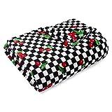 Betsey Johnson Cherry Checker Throw, 50x70, Red