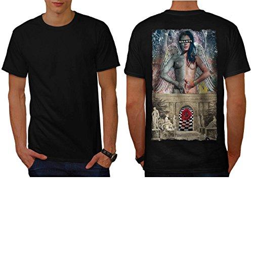 Shakti Believer Life Angel Wing Men NEW L T-shirt Back   Wellcoda (Roman Godess)