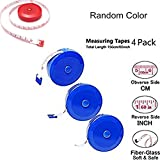 """4 Pack Retractable Soft Tape Measure, 60""""/150cm Measuring reel for Clothes, Underwear, Body Height, Waist, Chest, Dieting Sewing Craft- Random Color"""