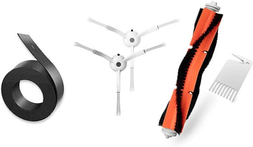 Kit de accesorios para Xiaomi Mi Robot Xiaomi Mijia roborock s50 s51 roborock 2 piezas de repuesto para aspiradora, cepillo principal, herramienta de limpieza y banda magnética de 2 m.: Amazon.es: Hogar