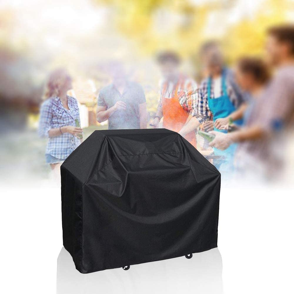 LxWxH Barbecue Cover,Bigzzia Grill Cover 420D Oxford Fabric Cloth Heavy Duty Waterproof Dust-proof Anti-UV Outdoor BBQ Cover Garden Patio Furniture Protection 57x24x46inch