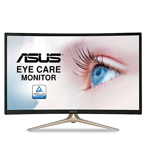 ASUS Curved 31.5″ Full HD 1080P HDMI VGA Eye Care Monitor 31.5-Inch Screen LED-lit Monitor (VA327H)