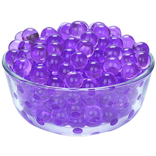 - LOVOUS 3000 Pcs Water Beads, Crystal Soil Water Bead Gel, Wedding Decoration Vase Filler - Furniture Decorative Vase Filler, All Occasion Table Centerpiece Decorations (Purple)