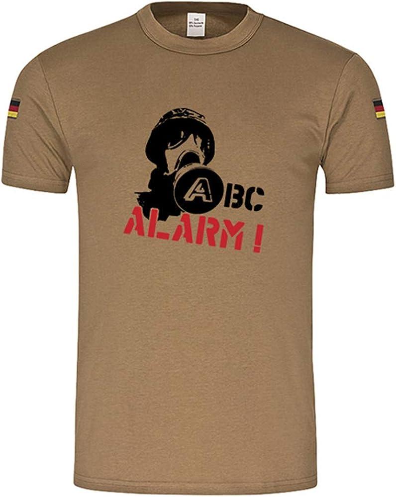 Copytec ABC Alarma Gas Máscara Soldado Original Trope Camiseta Camisa De Buceo Después de TL Nuevo Isaf KSK Bundeswehr Camiseta: Amazon.es: Ropa y accesorios