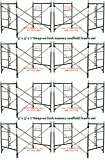 8 Set New Snap-On Lock 5' X 5' X 7' Masonry Scaffolding Frame Sets CBMSCAFFOLD