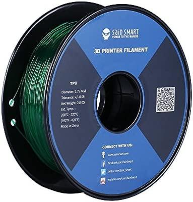 SainSmart - Filamento de TPU para impresora 3D, 1,75 mm, 0,8 kg, todos los colores, Esmeralda, 1