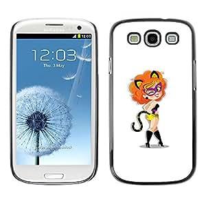 Samsung Galaxy S3 , Sexy Foxy Cat Lady - Cáscara Funda Case Caso De Plástico