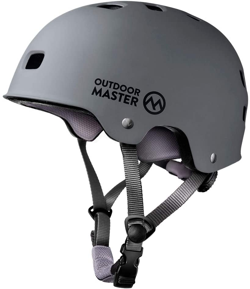 OutdoorMaster Skateboard Cycling Helmet - ASTM & CPSC Certified Two Removable Liners Ventilation Multi-Sport Scooter Roller Skate Inline Skating Rollerblading for Kids, Youth & Adults