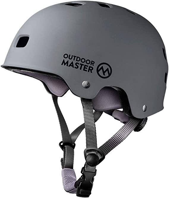 OutdoorMaster Skateboard Cycling Helmet - ASTM & CPSC Certified Two Removable Liners Ventilation Multi-Sport Scooter Roller Skate Inline Skating Rollerblading for Kids