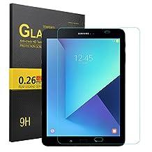 Samsung Galaxy Tab S3 9.7 Screen protector, KuGi ® Samsung Galaxy Tab S3 9.7 - High Quality 9H Hardness HD clear Tempered Glass Screen Protector for Samsung Galaxy Tab S3 9.7 tablet