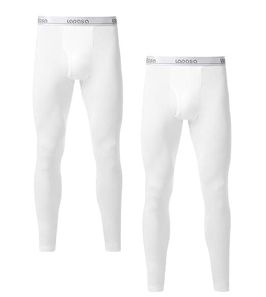 159c44ceb81 LAPASA Lot de 2 Pantalons Thermiques Homme Doublure Laine Polaire - Bas  Caleçons Longs sous-