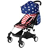 Baby Stroller 3 in 1 Foldable Mini Baby Carriages Light Pram Pushchair Strollers (Stars)