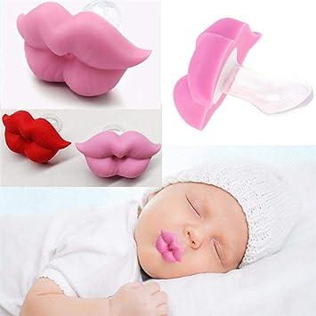 Bebé Chupete de Silicona Bebés Recién Nacidos Lindo Labio ...