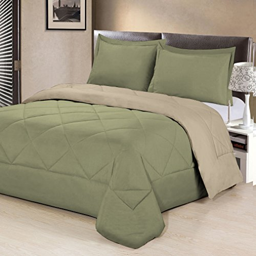 Aurora Bedding 3 Piece Reversible Luxurious Brushed Microfib