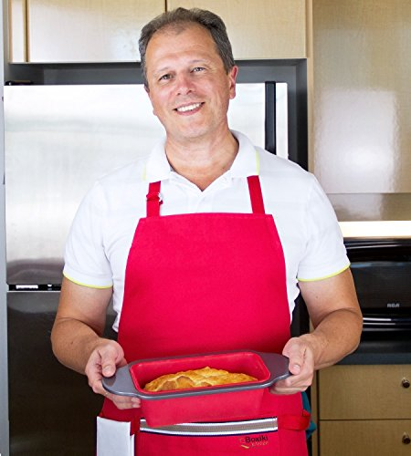 """Meatloaf and Bread Pan   Gourmet Non-Stick Silicone Loaf Pan by Boxiki Kitchen   for Baking Banana Bread, Meat Loaf, Pound Cake   8.5"""" FDA-Approved BPA-free Silicone, Steel Frame + Handles by Boxiki Kitchen (Image #3)"""