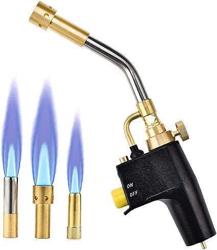 Torcia per gas bruciante InLoveArts Torcia a gas per mappatura multiuso Regolatore di portata per accensione incorporato Cottura Sous Vide