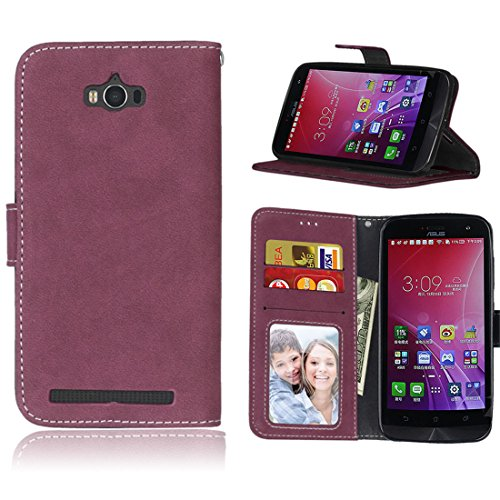 Wallet Flip Leather Case Cover For Asus Zenfone Max ZC550KL (Red) - 3