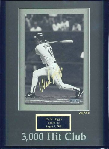 ITED EDITION Autographed 3,000 Hit Club photo (Red Sox (Wade Boggs 3000 Hit Club)