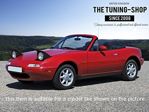 The Tuning-Shop Ltd For Mazda Mx-5 Mk1 NA 1989-1997 Shift Boot Black Leather Red Miata Edition Embroidery
