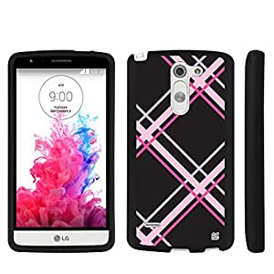 LG G3 Stylus case Spots8?? Hard Plastic Slim Fit [Plaid in Pink] Case Covers Compatible with LG G3 Stylus (D690 & LG D693)
