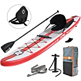 Zray Inflatable Stand Up Paddle Board SUP Comes with High Pressure Pump with Gauge/Adjustable Aluminum Paddle/Big Durable Backpack, 6 Thick (A1) Larger Image
