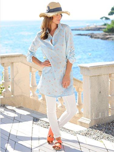 Hellblau Kleid mit Alba Zartem Streifendessin in Seesternen Damen Moda OxnZqBU
