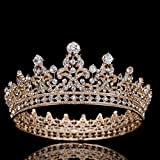 Stuff Zircon Crystal Rhinestone Bridal Tiara Crown Wedding Hair Accessories Bride Princess Full Crown