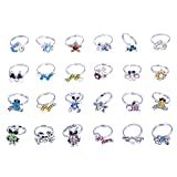 imixlot Wholesale Mix 100pcs Cute Crystal Children Kids Adjustable Rings