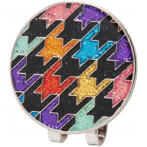 Loudmouth Hat Clip/Ball Markers Razzle Dazzle Black (Razzle Dazzle Glitter)