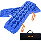 ORCISH Recovery Traction Boards Tracks Tire Ladder for Sand Snow Mud 4WD(Set of 2) Blue