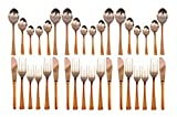 Product review for IndianArtVilla Handmade Steel Copper Cutlery Set Of 36 Piece For Use Home Res...