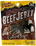 Wild Ride Zero Carb Beef Jerky, Gallopin' Pepper, 1-Ounce Bags (Pack of 12)