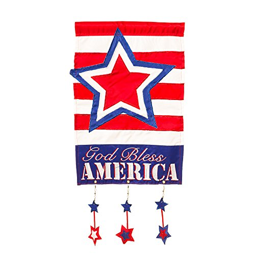 Evergreen Flag & Garden God Bless America Vertical Flag