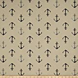 WAVERLY Sun N Shade Oceanic Calm Sand Outdoor Fabric by The Yard