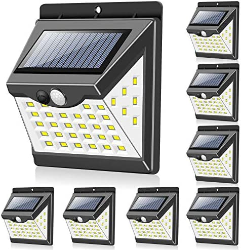 Solar Lights Outdoor 40 LED 3 Working Modes , Towkka Wireless IP65 Waterproof Solar Lights with 300 Lighting Angle, Security Solar Motion Sensor Lights for Fence Front Door Yard Patio Garden 8pack