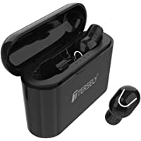 TERSELY Bluetooth 5.0 Wireless Earbuds,True Wireless Headphone TWS HiFi Stereo Sound Mini in-Ear Headset (Auto Pairing, Built-in Mic, Binaural Stereo Call, 5 hrs Play Time, 1200mAH Charging Case)