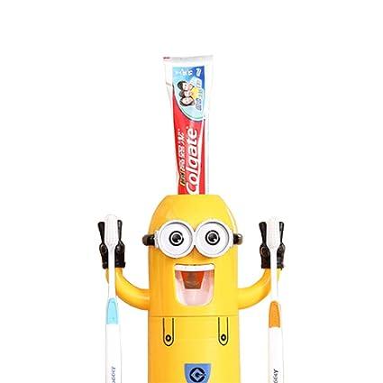 Minion cepillo de dientes dispensador Despicable Me – Vaso para cepillos de dientes automático dispensador de