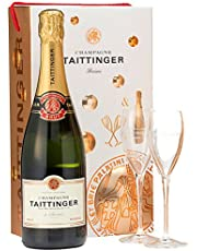 Taittinger Brut Reserve Giftset (1 Bottle + 2 Flutes), 750ml