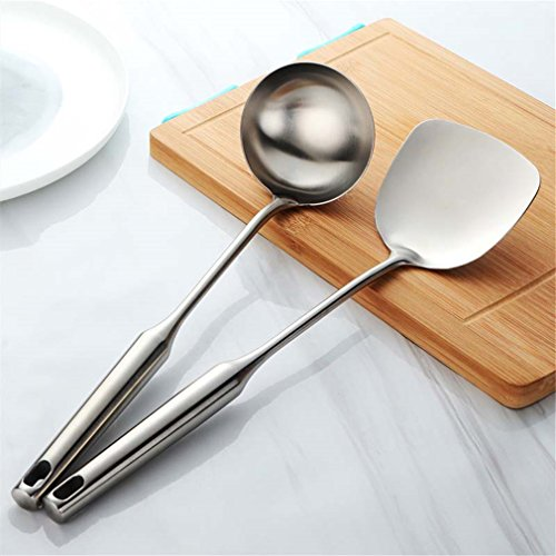- 1Set Stainless Steel Cookware Frosted Soup Ladle & Colander Spoon Set Kitchen Tools Long Handle