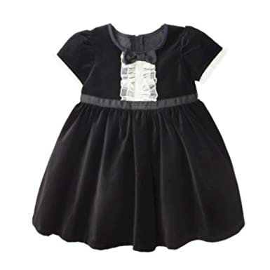 Black and white toddler party dress