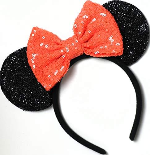 Halloween Orange Mickey Ears, Halloween Orange Minnie Ears,